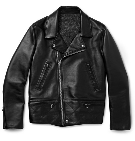 Undercover Slim-Fit Leather Biker Jacket
