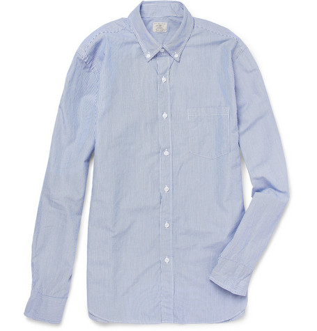 J.Crew Banker Stripe Cotton Shirt