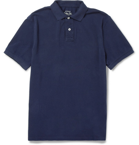 J.Crew Washed Cotton-Piqué Polo Shirt