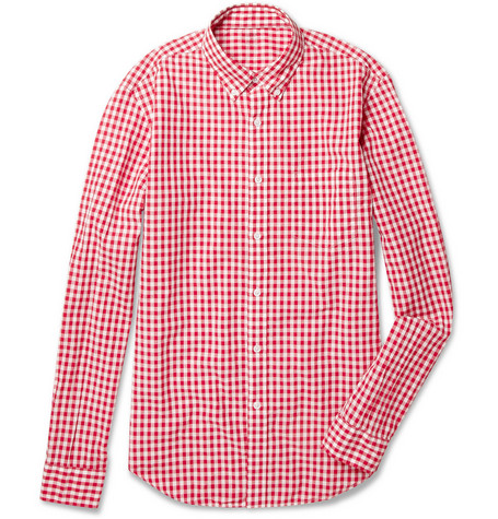 J.Crew Lightweight Gingham Check Cotton Shirt