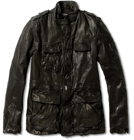 Neil Barrett Textured-Leather Jacket