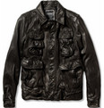 Neil Barrett - Padded Textured-Leather Jacket