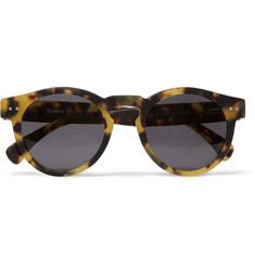 Illesteva Leonard Matte Tortoiseshell Acetate Sunglasses