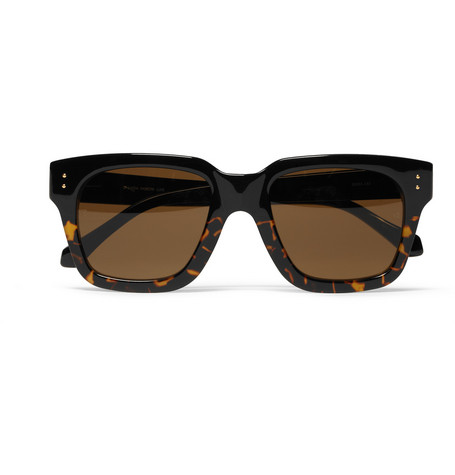 Linda Farrow Square-Frame Acetate Sunglasses