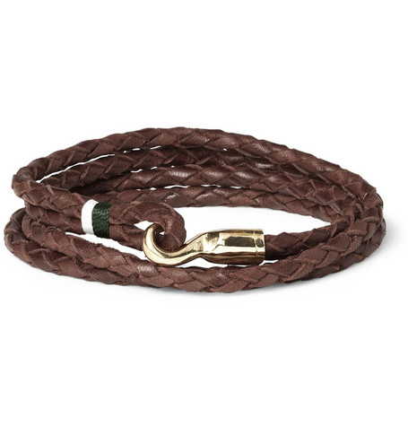 Miansai Trice Woven-Leather Bracelet