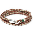 Miansai Woven-Leather and Metal Hook Bracelet