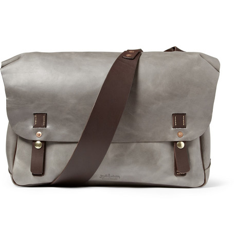 Bill Amberg Leather Messenger Bag