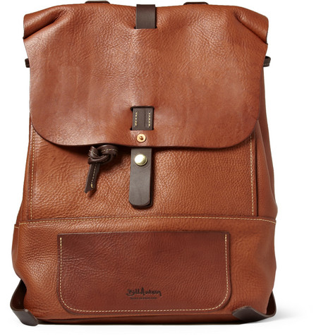Bill Amberg Hunter Full-Grain Leather Backpack