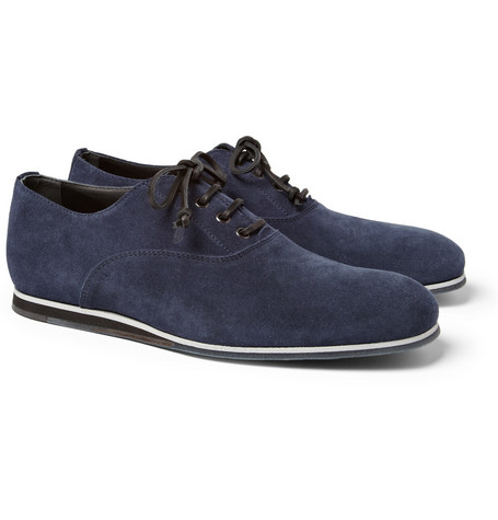 Tod's No_Code Rubber-Sole Suede Oxford Shoes