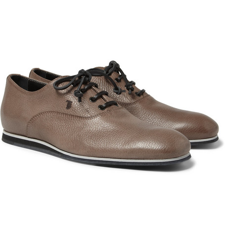 Tod's No_Code Rubber-Sole Full-Grain Leather Oxford Shoes