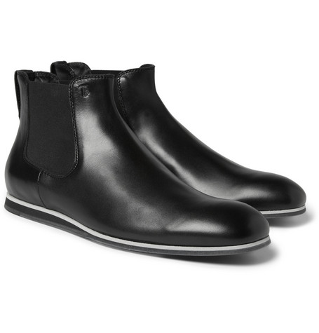 Tod's No_Code Rubber-Sole Leather Chelsea Boots