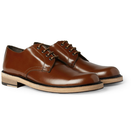 Acne Studios Bleeker Contrast-Sole Leather Derby Shoes