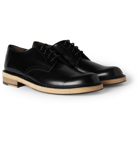 Acne Bleeker Contrast-Sole Leather Derby Shoes
