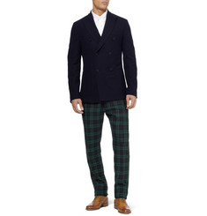 Gant Rugger Slim-Fit Plaid Wool-Blend Trousers