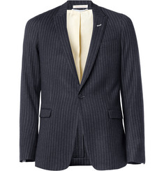 Gant Rugger Navy Striped Wool-Blend Suit Jacket