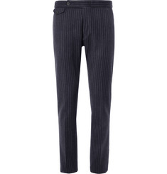 Gant Rugger Navy Striped Wool-Blend Suit Trousers