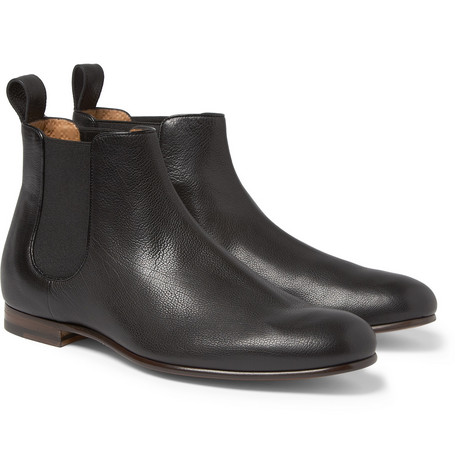 Gucci Full-Grain Leather Chelsea Boots