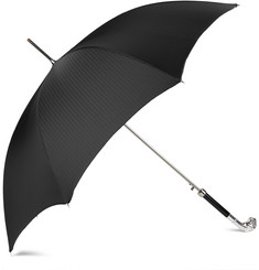 Archer Adams Silver-Plated Bulldog Handle Umbrella