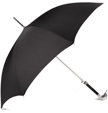 Archer Adams Silver-Plated Duck Handle Umbrella