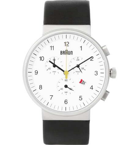 Braun x Dieter Rams BN0035 Stainless Steel Chronograph Watch
