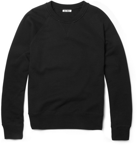 Acne Studios Exclusive College Loopback-Cotton Sweatshirt