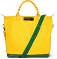WANT LES ESSENTIELS - O'Hare Leather-Trimmed Cotton-Canvas Tote Bag