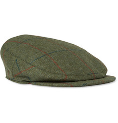 Musto Shooting Check Stretch-Tweed Flat Cap