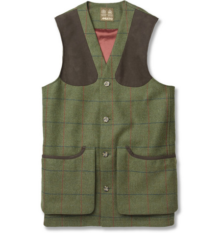 Musto Shooting Check Stretch-Tweed Gilet