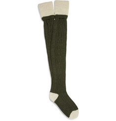 Musto Shooting Cable-Knit Knee-Length Socks