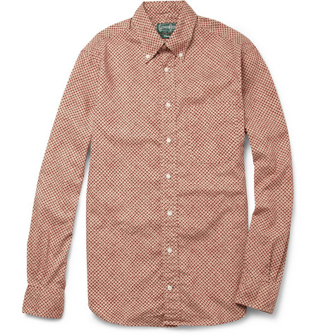 Gitman Vintage Printed Cotton Oxford Shirt
