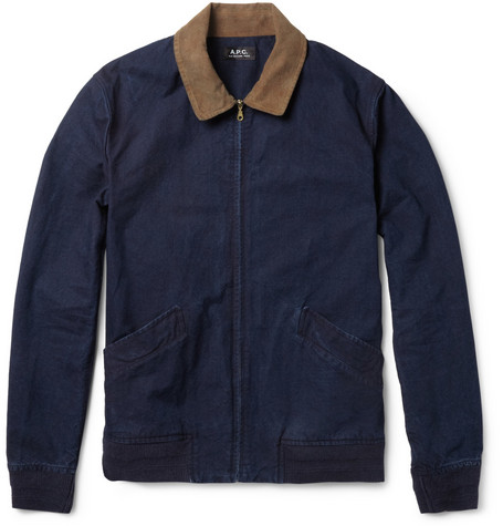 A.P.C. Washed Cotton-Canvas Bomber Jacket