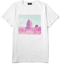 A.P.C. Nevada Rocks Printed Cotton T-Shirt