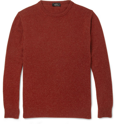 A.P.C. Crew Neck Camel Sweater