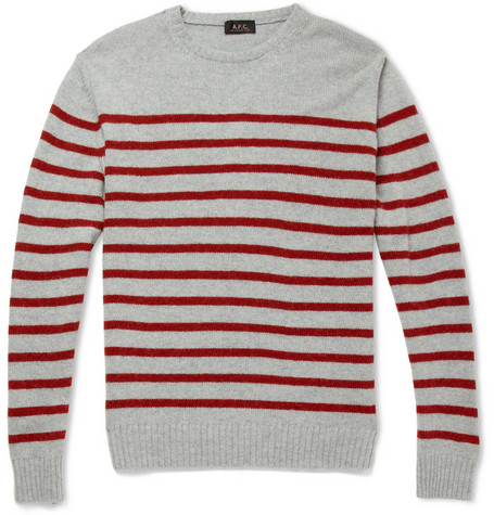 A.P.C. Striped Camel Sweater