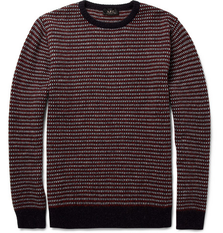 A.P.C. Jacquard-Knit Camel Sweater