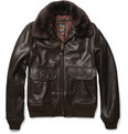 Schott - G1 Shearling-Collar Leather Bomber Jacket