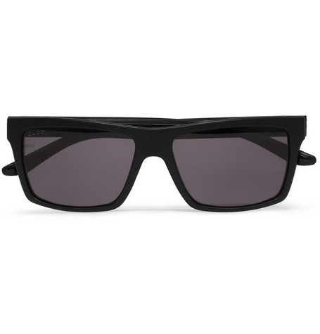 Gucci Rectangular-Frame Polarised Sunglasses