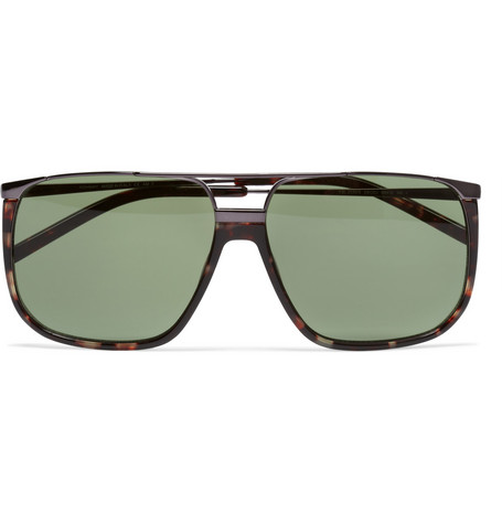 Yves Saint Laurent Tortoiseshell Aviator Sunglasses
