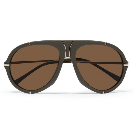 Yves Saint Laurent Matte-Acetate Aviator Sunglasses