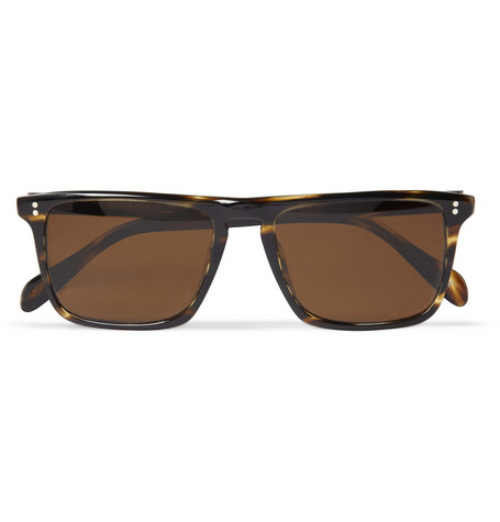 Oliver Peoples Bernardo Polarised Rectangular-Frame Sunglasses