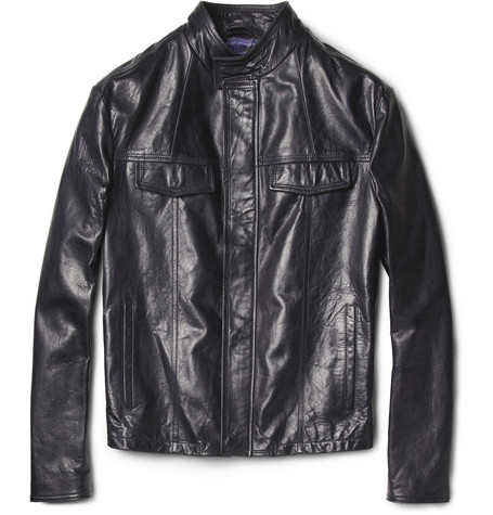 Etro Slim-Fit Leather Jacket