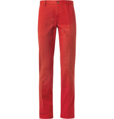 Etro Slim-Fit Cotton-Twill Trousers