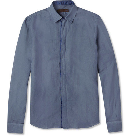 Etro Linen and Cotton-Blend Shirt