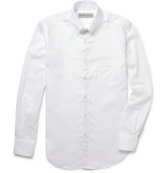 Etro Slim-Fit Contrast-Placket Cotton Shirt