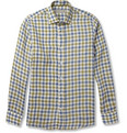 Etro Slim-Fit Check Linen Shirt