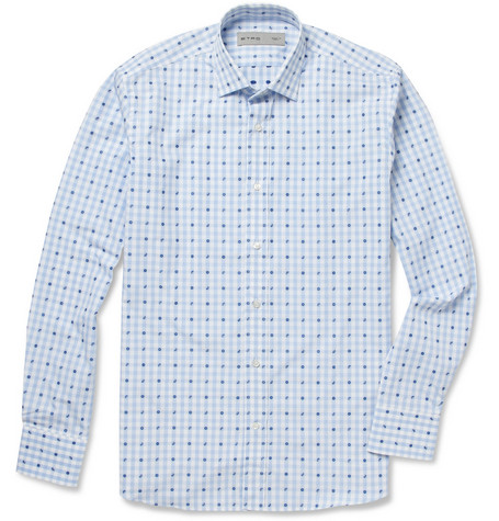 Etro Embroidered Patterned Cotton Shirt