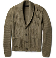 Etro Cable-Knit Cotton Cardigan