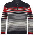Etro - Striped Cotton and Cashmere-Blend Polo Shirt