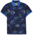 Etro Printed Cotton-Blend Pique Polo Shirt