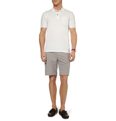Etro Cotton-Blend Seersucker Shorts